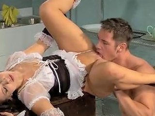 Driver Enjoys The Maid For Lunch