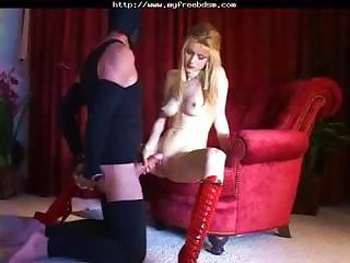 Great  With Cockteasing Between His Legs.   Slave  Domination