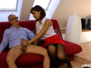 An Ultimate Sexy Secretary Entertains Her Boss In The Office