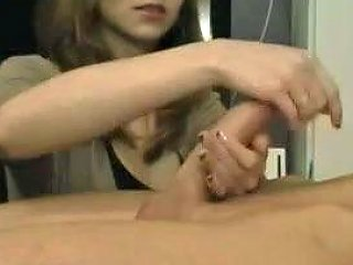 My Spellbinding Blonde Teen Jerks Off My Huge Dick