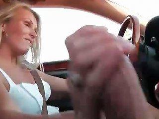 Sexy Amateur Girl Giving A Handjob Part4